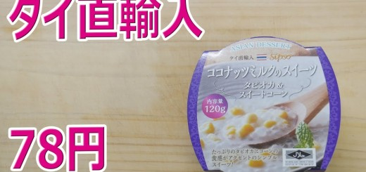 ココナッツミルクのスイーツ タピオカ&コーンとチョココーティングチップス