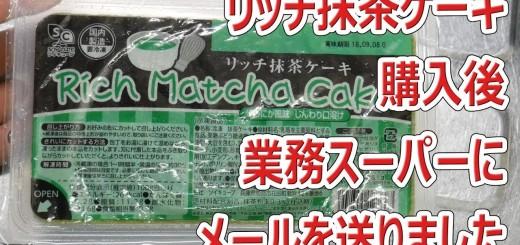 リッチ抹茶ケーキを食べて業務スーパーに問い合わせしました