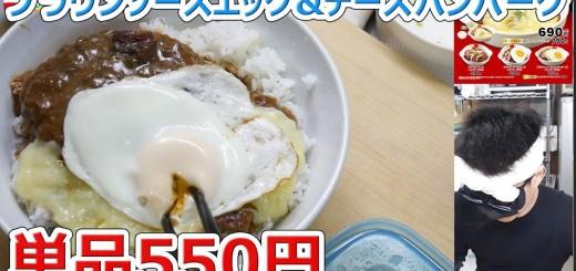 【新発売】松屋 ブラウンソースエッグ&チーズハンバーグ定食【バーガー探訪】